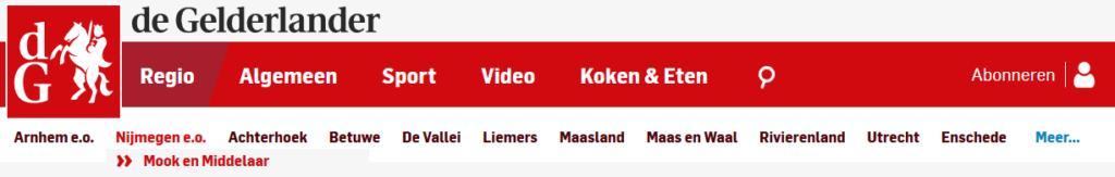 Gelderlander.nl Mook En Midedlaar logo